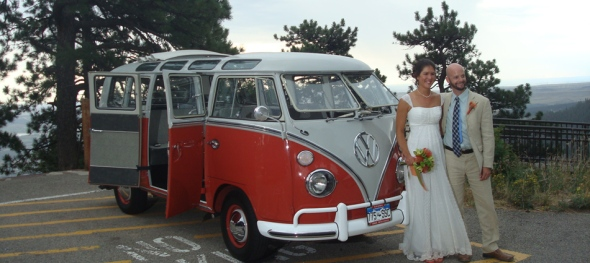 Hippie Limoi - Janelle and Tommy's Wedding - Just Before the Rain - Bride and Groom: Boulder Sunrise Amphitheater