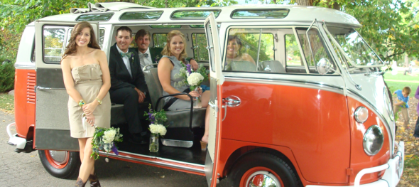 Hippie Limo - Jehnna & Michael's Wedding - Bridal Party: Boulder Chautauqua Park - Lucky Wedding Party Riders