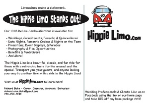Hippie Limo Postcard - Back