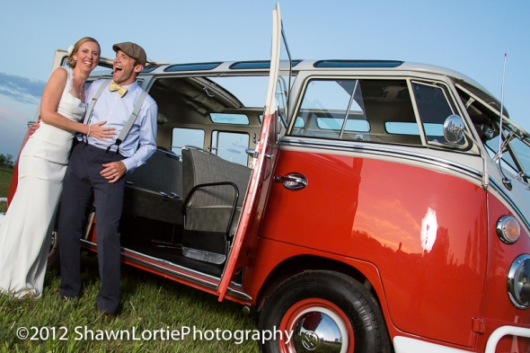 Hippie Limo - O'Shea & McFarling Wedding - Bus and Sky - Lone Hawk Farms, Longmont, CO