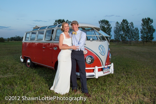 Hippie Limo - O'Shea & McFarling Wedding - Lovely Couple - Lone Hawk Farms, Longmont, CO