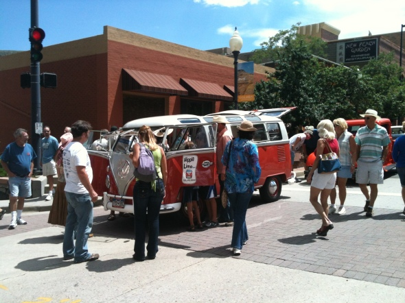 Hippie Limo - Spectators at the Buffalo Bill Days Car Show - Golden, CO