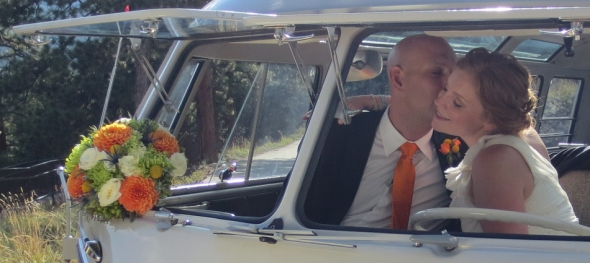 Juliana & Brian's Wedding: Boulder Sunrise Amphitheater - Moment Alone - The Hippie Limo