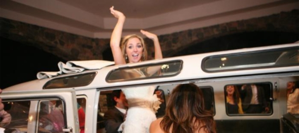 Lana & Allen's Wedding: Mount Vernon Country Club - Raising the Roof - The Hippie Limo