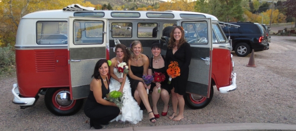 Miriah & Dale's Wedding - Bridesmaids Galore - The Hippie Limo - The Chapel at Red Rocks