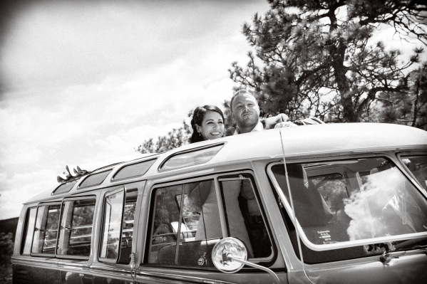 The Hippie Limo - Beth Photography - Wind in the Hair - Melissa & Paul's Wedding